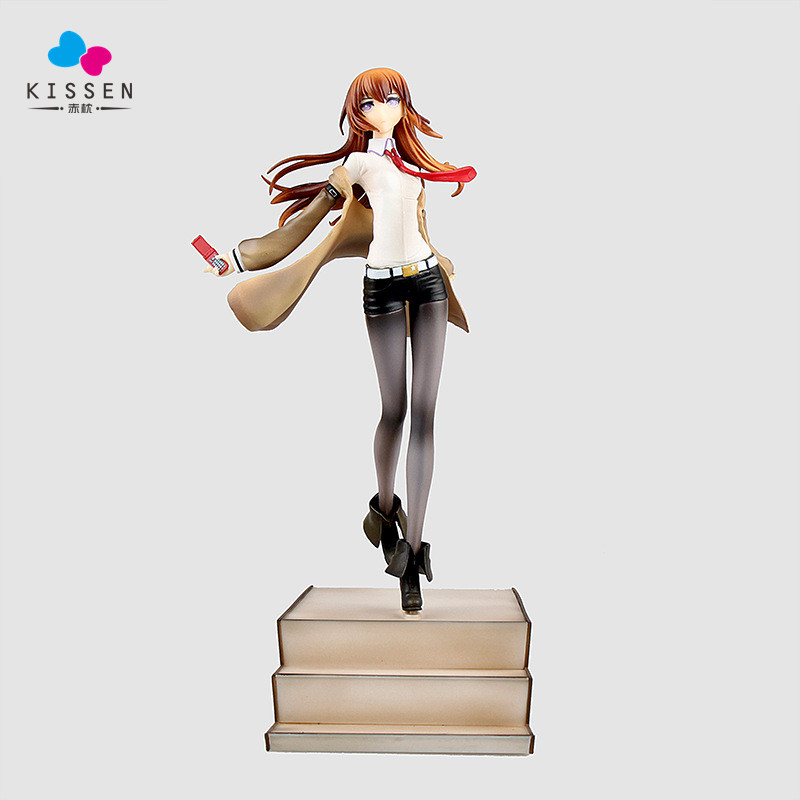 Kissen 25CM Anime Steins Gate Laboratory Member 004 Makise Kurisu 1/8 Scale PVC Action Figure Collectible Model Toy member