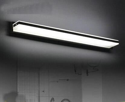 10w led waterproof wall lamp 62cm bathroom mirror vanity lights fixture minimalist ac110 240v wall black vanity lighting