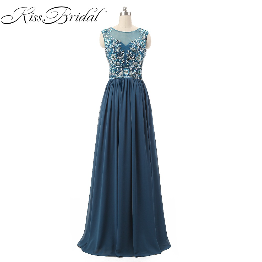 Vestido De Festa   Prom     Dresses   Sheer Scoop Neck Sleeveless Floor Length Formal Evening Party Gowns With Illusion Back