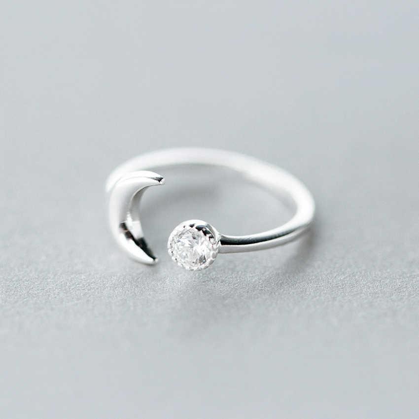 Cxwind แฟชั่น Crescent Moon แหวนแหวนแต่งงานนิ้วมือ Half Moon คริสตัลบอลแหวน Toe เครื่องประดับ Bague Femme