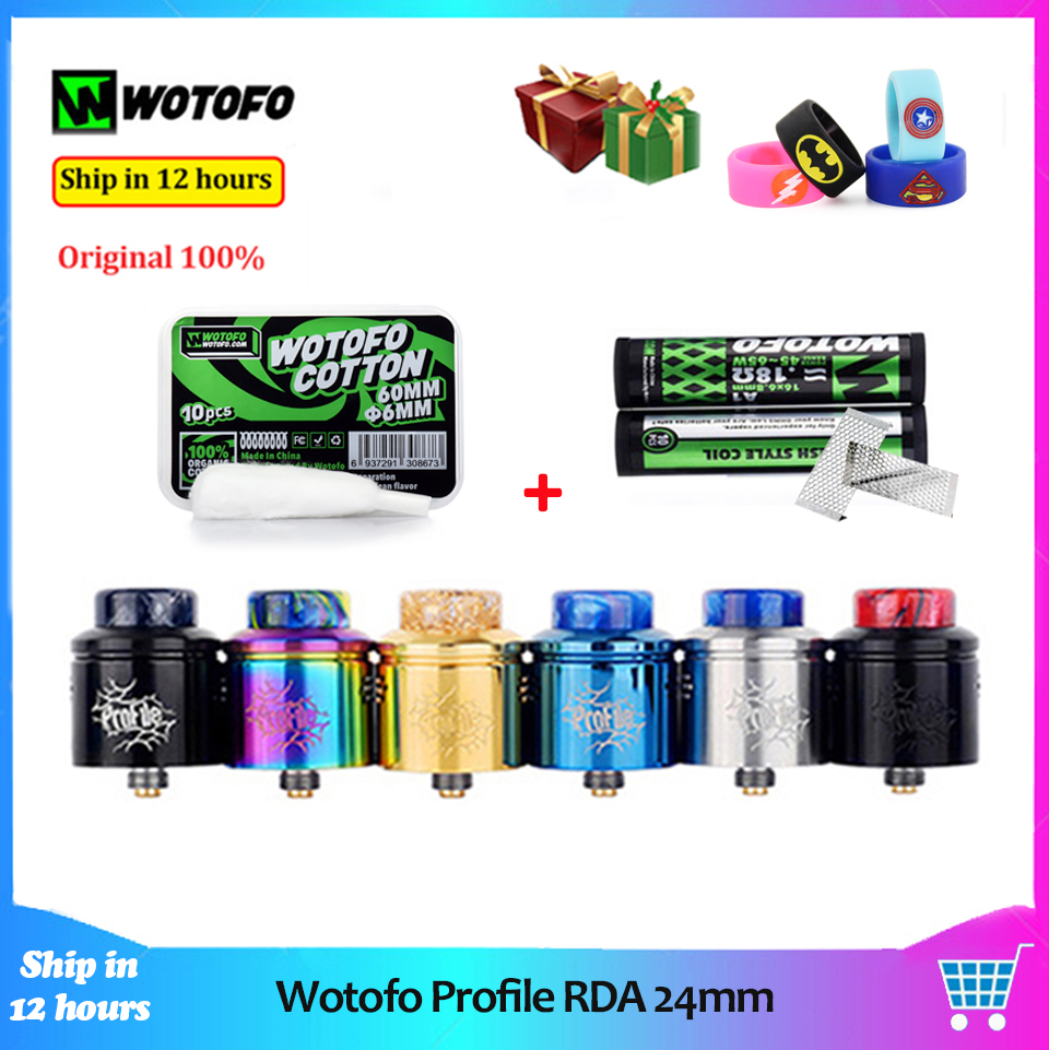 Wotofo 24mm Tank-Atomizer Coil Vape RDA Mesh E Cigarette Cotton Original with Mod 10pcs