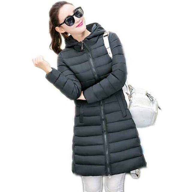 2016 Novo Casaco de algodão Casaco de Inverno Mulheres Parkas Mujer Feminino Casaco Longo de Alta Qualidade espessamento Parka Quente Capuz JX043