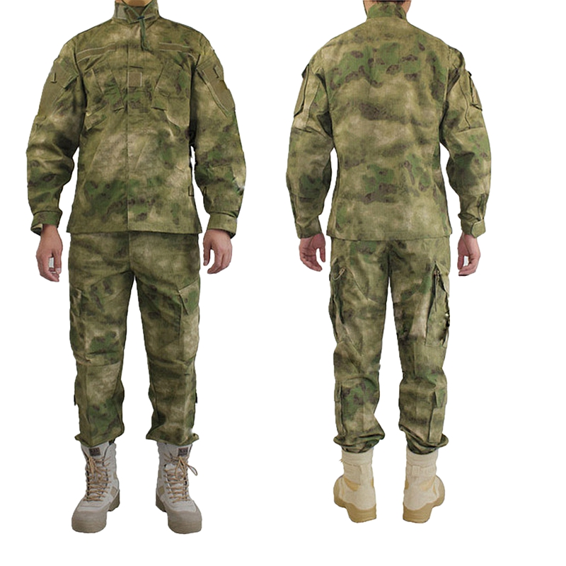 Outdoor Army Military Uniform Camofluage Tactical Atacs A-tacs FG Camo Durable Shirt & Pants Army Combat Coat and Trousers цены