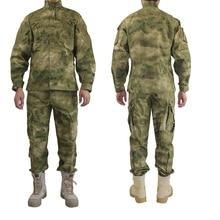 En plein air Armée Militaire Uniforme Camofluage Tactique Atacs a-tacs FG Camo Durable Chemise et Pantalon de Combat de L'armée Manteau et pantalon