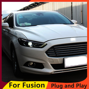 Image 3 - KOWELL Car Styling For Ford Mondeo 2013 2015 LED Headlight for Fusion Head Lamp LED Daytime Running Light LED DRL Bi Xenon HID