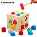 Caja de Bolas de bebé Aprendizaje Educativo Juguetes De Madera Bloques De Forma Geométrica Clasificación Juego Montessori Iluminación Regalos de Los Niños 4113