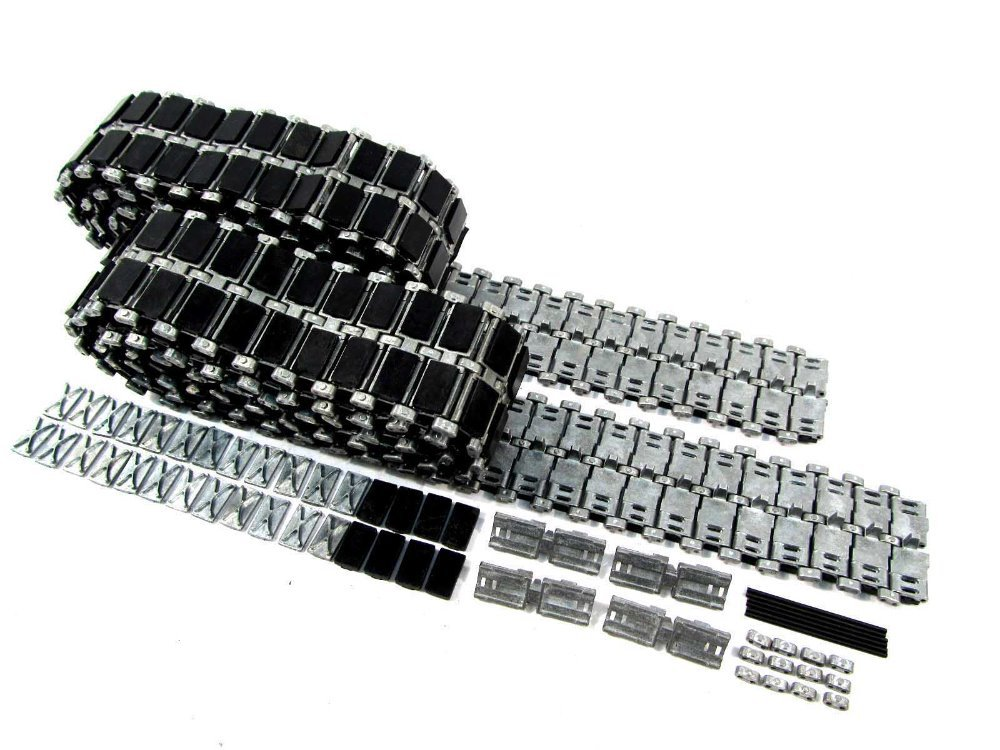 Mato hobbies 1:16 1/16 Leopard 2 A6 metal tracks with rubber and metal pads for Heng Long 3889-1 Germa Leopard2A6 rc tank mato sherman tracks 1 16 1 16 t74 metal tracks