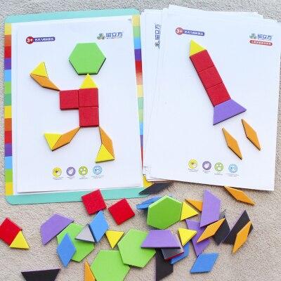 1 St Vroege Onderwijs Educatief Speelgoed Geometrie Plastic Magnetische Puzzel Spel School Kleuterschool Baby Cadeau Bestellingen Zijn Welkom.