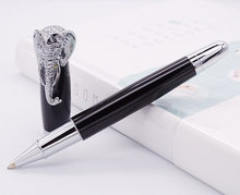 Fuliwen Rollerball Pen Elephant Head on Cap, Delicate Black Signature Pen, Smooth Refill Business Office Home School Supplies