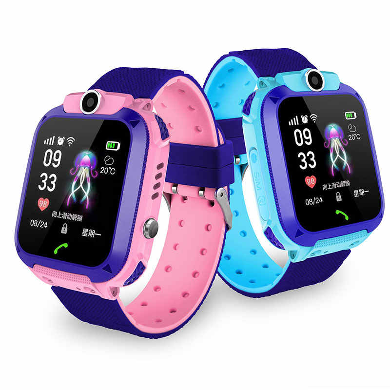 2019 Hot Smart watch LBS Kid SmartWatches Baby Watch for Children SOS Call Location Finder Locator Tracker Anti Lost Monitor+Box