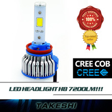 Sales!! Pair H8 48W/Set 7200LM LED COB 6000K White High Power Auto Car Lamp Fog Headlight Plug&Play long service life
