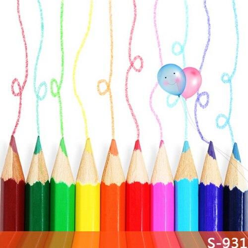 Toko Online 10x10ft Colorful Pensil Garis Gambar Dinding Balon Anak