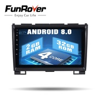 Funrover Android 8.0 2 din Car dvd gps for Haval Hover Greatwall Great wall H5 H3 h5 HD radio bluetooth RDS navi wifi Glonass FM