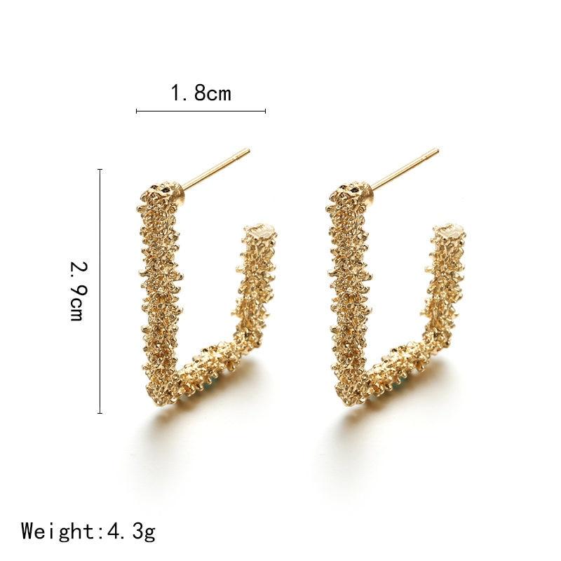 Metal Multicolored Drop Dangle Earrings For Women Geometric Wedding Party Vintage Earring Female Bohemian Jewellery 12