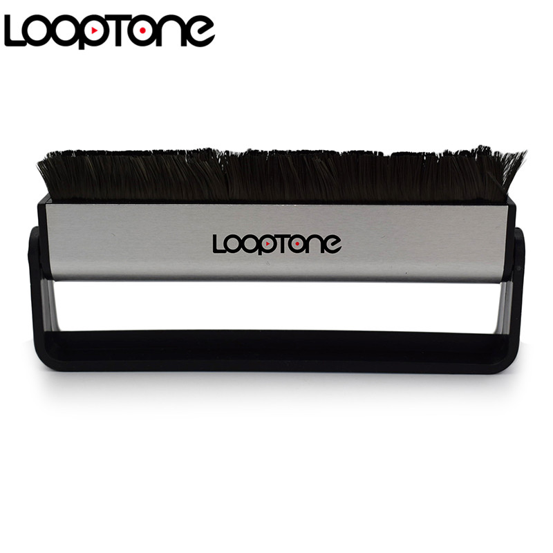 LoopTone Turntable Player Accessory Anti Static Carbon Fiber Vinyl record Cleaner Cleaning Brush untuk CD / LP