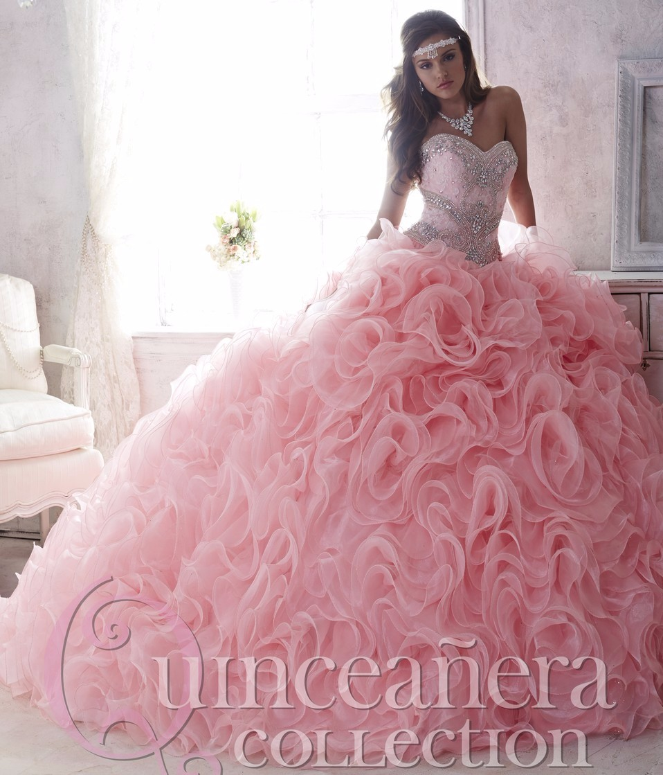 6f5bc7c53b9 Luxury Beaded Lace Sweetheart Light Pink Puffy Quinceanera Dresses 15 Years  Cheap Quinceanera Dress Sweet 16 Ball Gown Quinceane