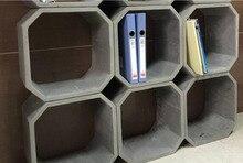 Moldes de hormigón de silicona para estante de oficina y pilas, moldes de silicona para manualidades de cemento ypsum