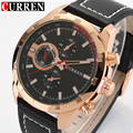 CURREN Brand Men Sports Watches Men Fashion Casual Quartz Watch Male Leather Strap Waterproof Luxury Men Watch Relogio Masculino