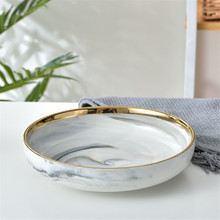 2019 New fashion Useable Marble Pattern Porcelain Plate Ceramic Dinner Plate Kitchen Cook Tool Tableware Dinner Set Marble