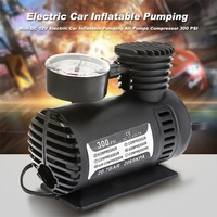 High Quality Mini Electric Auto Car Inflatable Pump 12V 300PSI Portable Air Compressor Tire Inflator for Car Bicycle Tire Balls