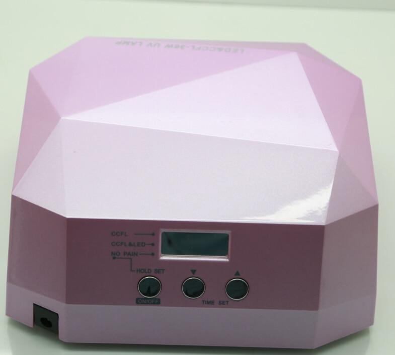送料無料熱い販売ダイヤモンドled ccflネイルドライヤー36ワットでタイマー/痛み/