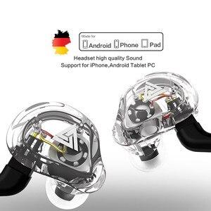 Image 1 - QKZ VK1 4DD 서브 우퍼 인 이어 이어폰 HIFI 매달려 귀 동축 휴대 전화 음악 밀 Eadphones 0.75MM 핀 케이블
