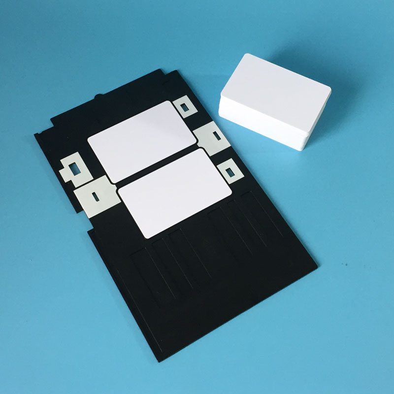 Office Electronics Printer Supplies Hot Sale Pvc Id Card Tray Plastic Card Printing Tray For Epson R260 R265 R270 R280 R290 R380 R390 Rx680 T50 T60 A50 P50 L800 L801 R330 Pure Whiteness