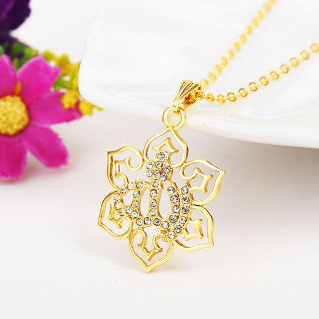 gorjuss islam allah islamic muslim fine jewelry necklace Fashion Gold Color Necklaces Pendants pendant fashion crystal jewellery 2