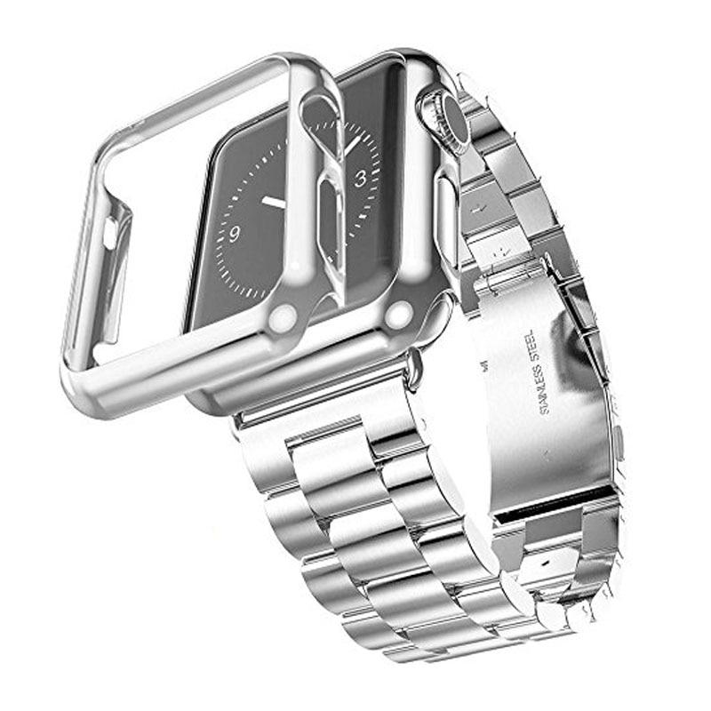 Correia de aço inoxidável de três links para Apple Watch Band com - Acessórios para relógios - Foto 4