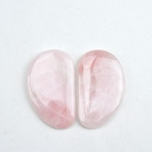 1 Pack = 2 pcs natural rose quartz relax guasha board for wrinkle removal whitening face care beauty face equipment tools