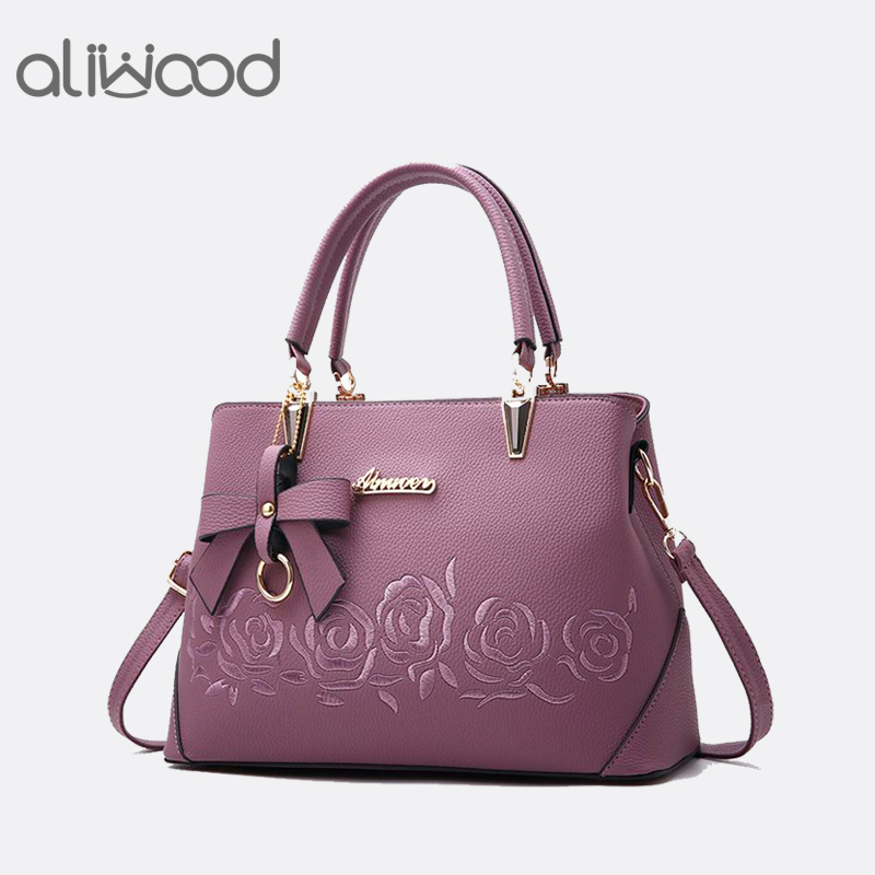 Aliwood Europe Fashion Women's Handbags Ladies' Leather Shoulder bag High Quality Messenger Bags Females Crossbody Bag with Bow fashion europe style high quality brass