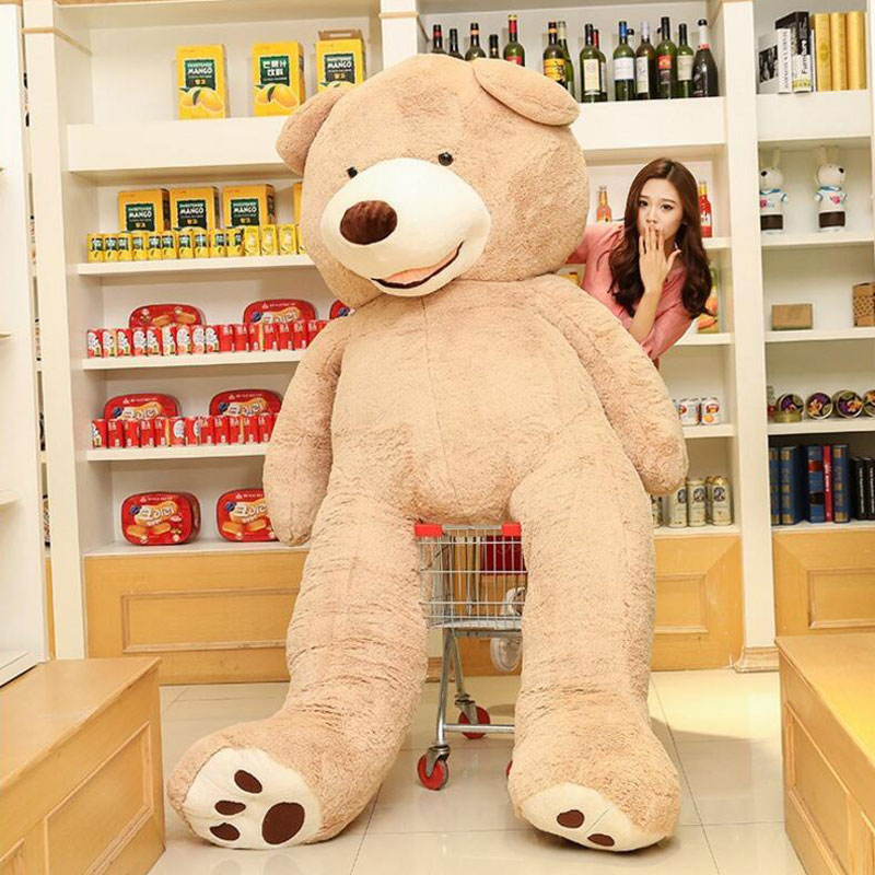 Big 200cm American Giant Bear Teddy Bear Doll Stuffed And Plush Animals Toys For Girlfriend Toys Birthday Gift Valentine's Day 2017 new year teddy bear plush toys high quality and low price skin holiday gift birthday gift valentine gift stuffed animals