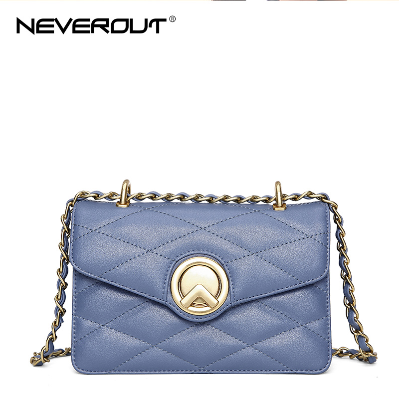 NEVEROUT Women Small Crossbody Bag Ladies Genuine Leather Flap Bags Classic Messenger Handbag Shoulder Purse Black/Blue/White все цены