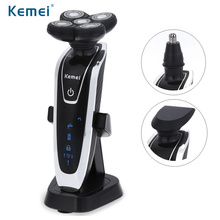 Kemei KM-5886 3 in 1 Rechargeable Electric Shaver 5 Blade Washable Electric Shaving Razors Men Face Care 5D Floating