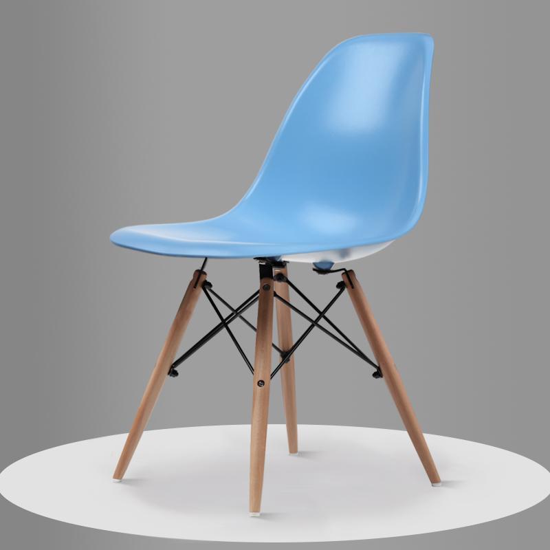 Скандинавский обеденный стол и стулья, современный минималистичный креативный компьютерный офисный стул, повседневный домашний пластиковый кофейный стул - Цвет: Style 6