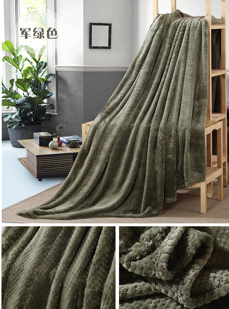 Image 2 - CAMMITEVER Coral Fleece Blanket Pineapple Flannel Blankets Throw on Bed Sofa Bedspreads Plaids Twin Queen-in Blankets from Home & Garden