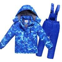 4~12T Teenage Winter Children Waterproof Ski Suit Kids Jacket Coat Parka Snowsuit Girls Outdoor Clothes Boy Clothing Set Outwear