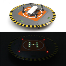 Drone Landing Pad for DJI Mavic Pro Spark Phantom 2 3 4 Pro Detachable Hard Plastic LED Lights 15 inch Helipad for Drone RC