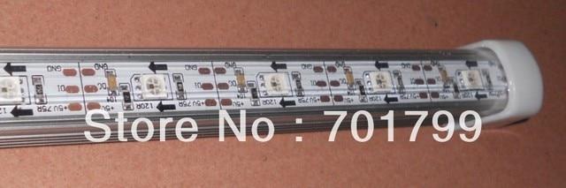 1M long WS2811 built-in 5050 SMD 32LEDs led digital bar light,DC5V input,with PC cover