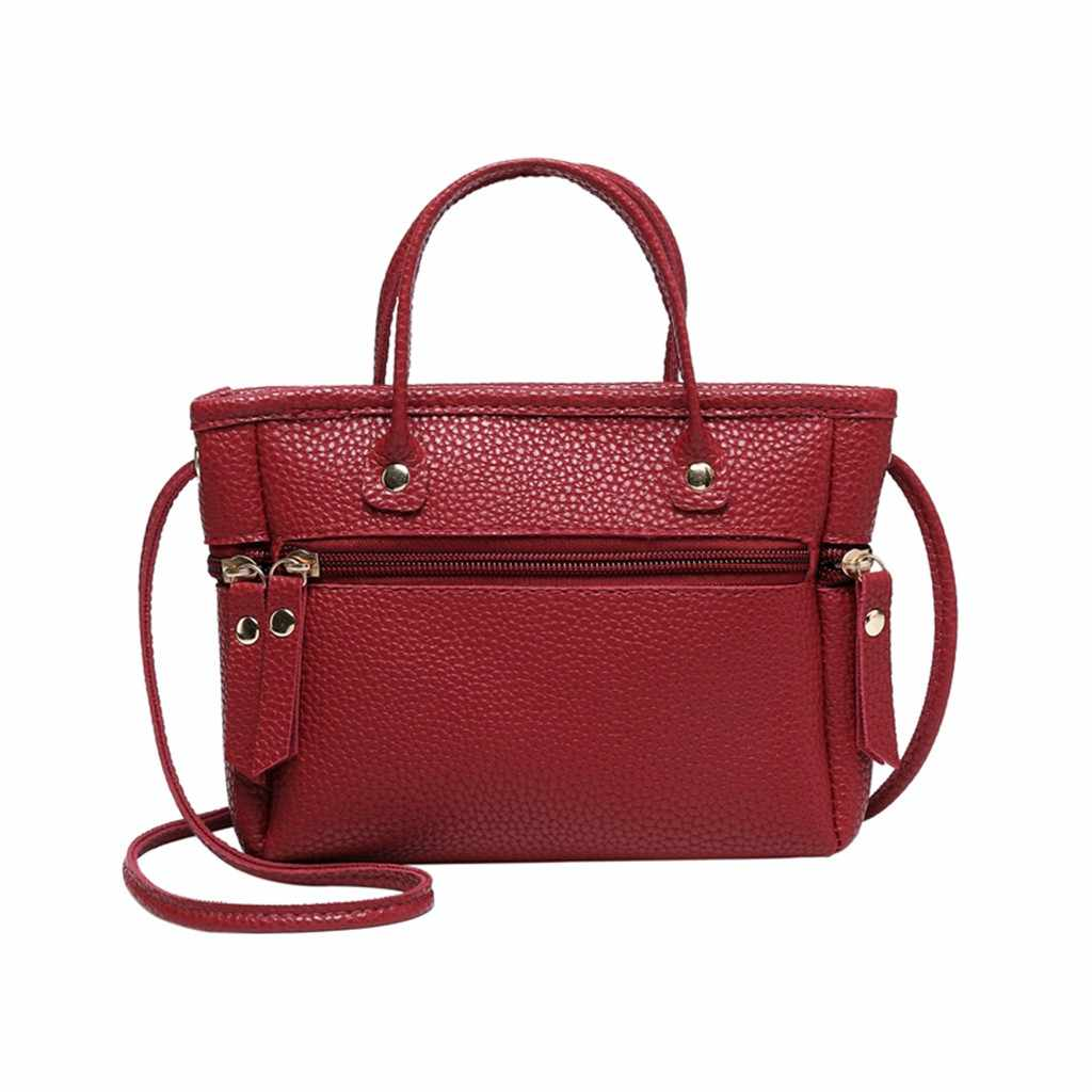 Women Bag Ladies Fashion Solid Crossbody Messenger Handbag Purse Totes Shoulder Bags sac main femme torebka damska shopper