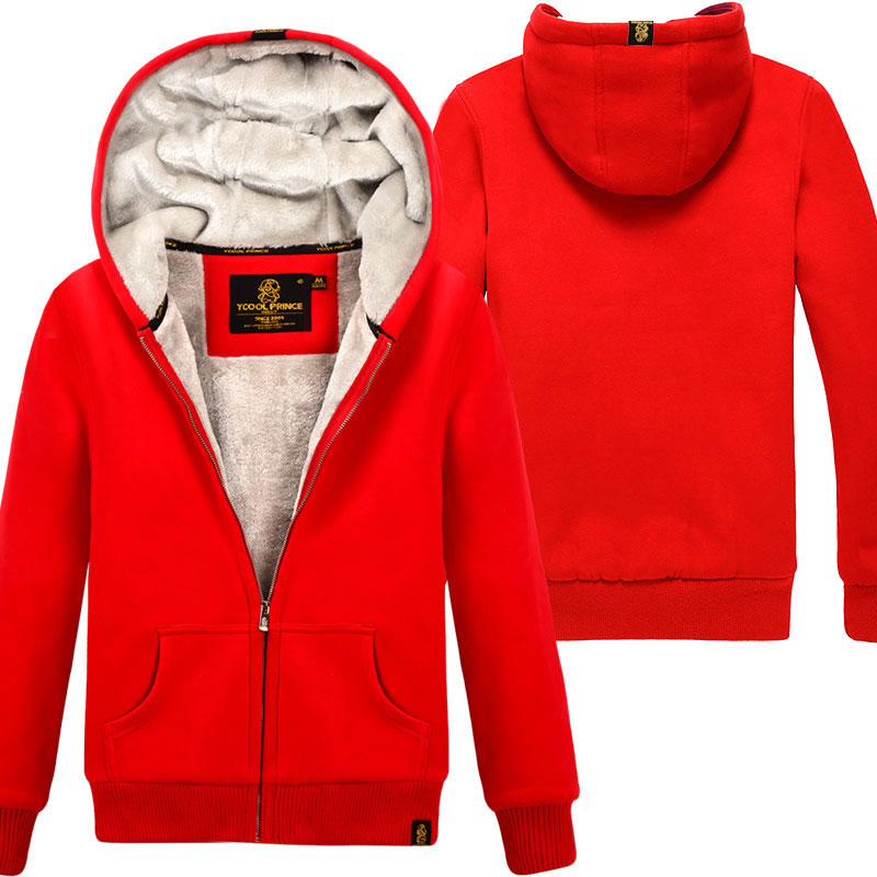 New Women s Sweatshirt Autumn and Winter 2018 Casual Solid Color Plus Velvet Thicker Hooded Long