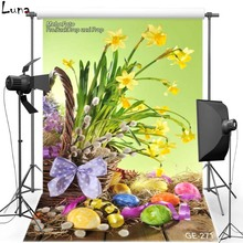 Happy Easter Vinyl Photography Background Backdrop For Children Flower Egg New Fabric Flannel Backdrop For photo studio 271