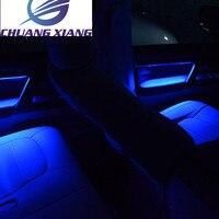 Chuangxiang межкомнатных дверей Атмосфера свет светодио дный свет деревянный Цвет для Toyota Land Cruiser 200 LC200 аксессуары 2008 2017