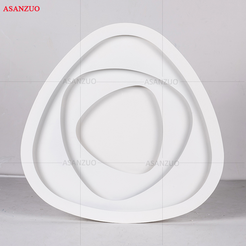 Image 5 - Creative triangle ceiling lights art LED ceiling lamp for Sitting room bedroom study corridor balcony with remote control-in Ceiling Lights from Lights & Lighting