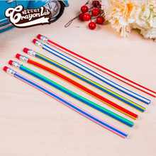 5pcs Creative Stationery Bendable Soft Pencil Children Students Learn Gift Bending School Office Supplies