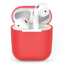 6 Color Earphone Case For AirPods Protective Shockproof Silicone Bluetooth Wireless Headphone Protector Cover Hot Sales