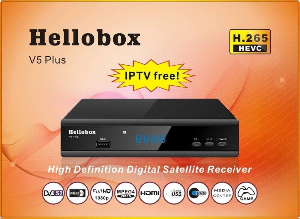 Hellobox V5 Plus Satellite Receiver 3 Months Free IPTV PowrVu IKS