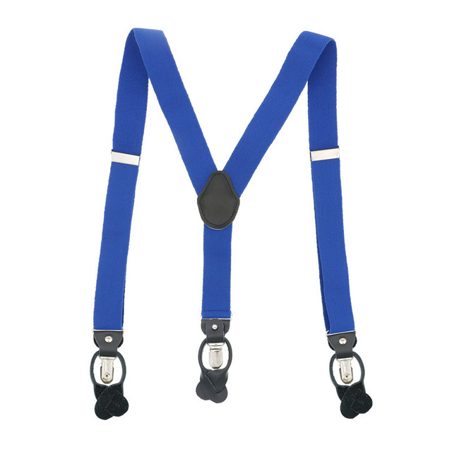 New Fashion Women Men Unisex Suspender Vintage Elegant Bow Ties Set Box Packing 3.5cm Width Button Clip Solid  Elastic Straps