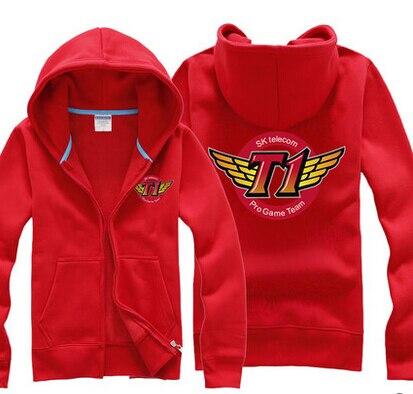lol game cloth skt t1winter coat jacket hood cardigan for men costume
