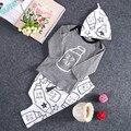 2016 Новый Малышей Детей Новорожденных Девочек Наряд Одежда Футболка Топы + Длинные Брюки Брюки 3 ШТ. Набор Боди Девочка одежда